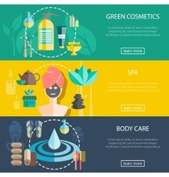 Spa And Wellness Banners Set vector image vector image