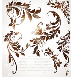 Abstract Vintage Background with Autumn Leaves vector