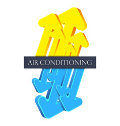 air conditioner arrows vector image