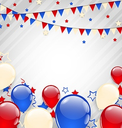 American background for Independence Day vector image