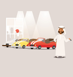 arab businessman wearing traditional clothing near vector image