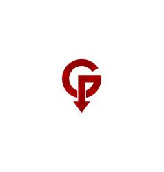 arrow letter g logo icon design vector image