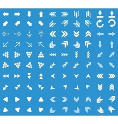 Arrows icon set blue vector