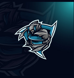 assassin logo mascot vector image