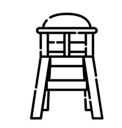 baby chair icon design clip art line icon style vector image