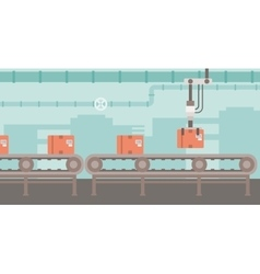 Background of conveyor belt vector