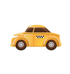 beautiful children car machine vehicle taxi vector image