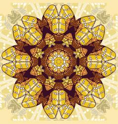 Beautiful circular background fractal image vector