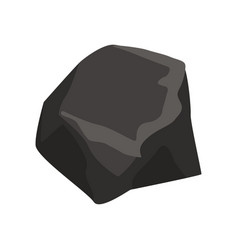 Black mineral stone geological industry element vector