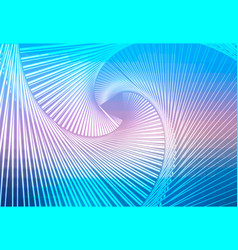 Blue shades pink glowing spiral background vector