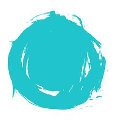 Brush stroke circle shape vector