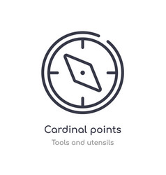 Cardinal points outline icon isolated line from vector