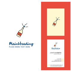 celebrations drink creative logo and business vector image