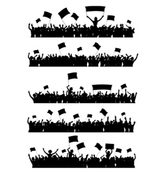 Cheering Crowd Set vector