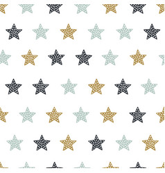 childish seamless pattern with stars creative vector image