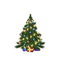 Christmas tree and galand vector image