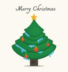 Christmas tree image vector image