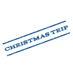 Christmas Trip Watermark Stamp vector
