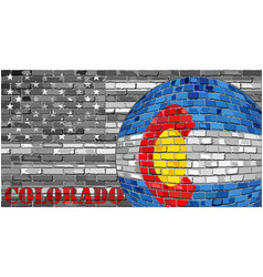 Colorado flag on the grey usa flag background vector