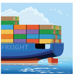 Container carrier ship vector