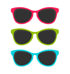 Cool summer colored sunglasses design vector