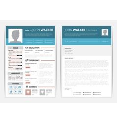 CV Web Page vector image