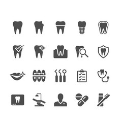 Dental glyph icons vector