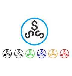 Dollar trinity rounded icon vector