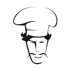 Doodle sketch a handsome chef vector