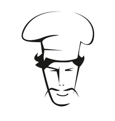 Doodle sketch of a handsome chef vector image