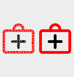 dot and flat first-aid case icon vector image
