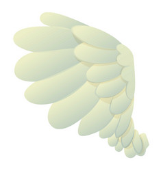 dove wing icon cartoon style vector image