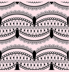 elegant lace seamless pattern on light pink vector image