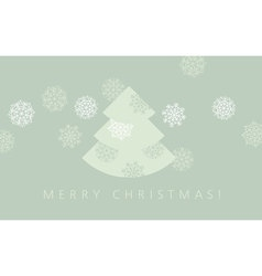 Elegant pale green color christmas background xmas vector