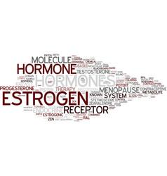 Estrogen word cloud concept vector