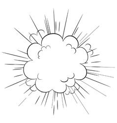 Explosion cloud vector