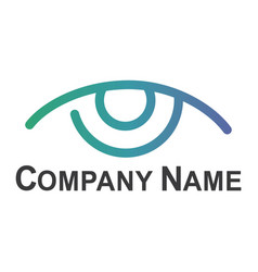 eye logo design idea vector image
