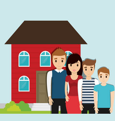 family home together image vector image