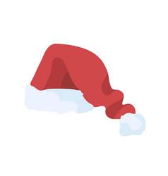 festive santa claus cap flat vector image