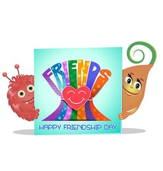 Friendship Day greeting card vector image