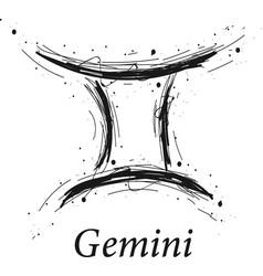 gemini astrology sign hand drawn horoscope vector image