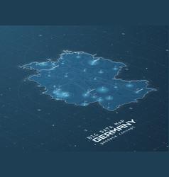 germany map big data visualization futuristic map vector image