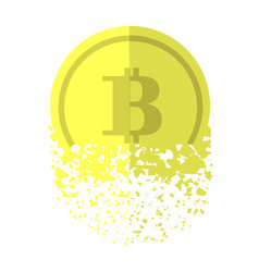 gold bitcoin icon vector image