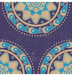 Grunge blue and yellow color ornament vector image
