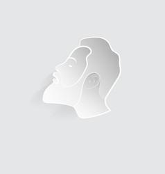 Head of a man vector