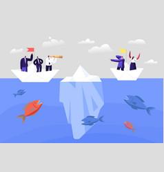 hidden danger concept business characters on vector image