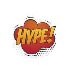 Hype badge with isolated abstract cloud icon on vector