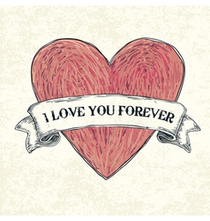 i love u 4ever vector image