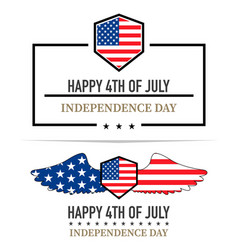 independence day labels on a white background vector image