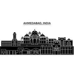 India ahmedabad architecture urban skyline vector
